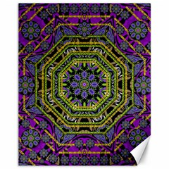 Wonderful Peace Flower Mandala Canvas 11  x 14
