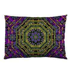 Wonderful Peace Flower Mandala Pillow Case