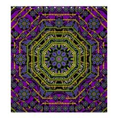 Wonderful Peace Flower Mandala Shower Curtain 66  x 72  (Large)