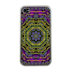 Wonderful Peace Flower Mandala Apple iPhone 4 Case (Clear)