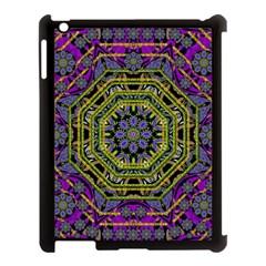 Wonderful Peace Flower Mandala Apple iPad 3/4 Case (Black)