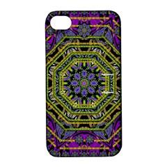 Wonderful Peace Flower Mandala Apple iPhone 4/4S Hardshell Case with Stand