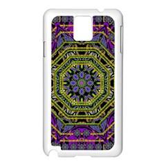 Wonderful Peace Flower Mandala Samsung Galaxy Note 3 N9005 Case (White)