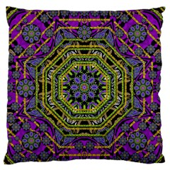 Wonderful Peace Flower Mandala Standard Flano Cushion Case (One Side)