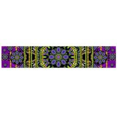 Wonderful Peace Flower Mandala Flano Scarf (Large)