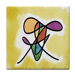 Art Abstract Exhibition Colours Tile Coasters