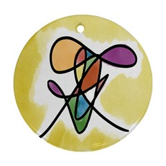 Art Abstract Exhibition Colours Ornament (Round)