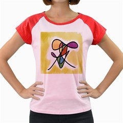 Art Abstract Exhibition Colours Women s Cap Sleeve T-Shirt