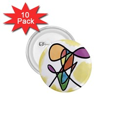 Art Abstract Exhibition Colours 1.75  Buttons (10 pack)