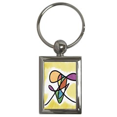 Art Abstract Exhibition Colours Key Chains (Rectangle)