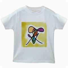 Art Abstract Exhibition Colours Kids White T-Shirts