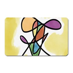 Art Abstract Exhibition Colours Magnet (Rectangular)
