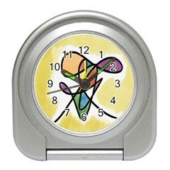 Art Abstract Exhibition Colours Travel Alarm Clocks