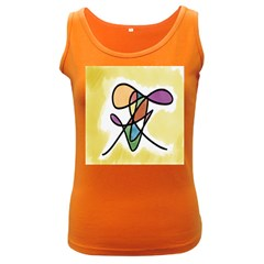 Art Abstract Exhibition Colours Women s Dark Tank Top