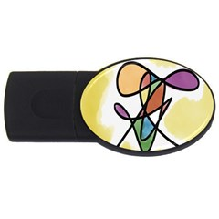 Art Abstract Exhibition Colours USB Flash Drive Oval (4 GB)