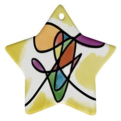 Art Abstract Exhibition Colours Star Ornament (Two Sides)