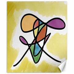 Art Abstract Exhibition Colours Canvas 8  x 10