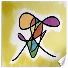 Art Abstract Exhibition Colours Canvas 12  x 12