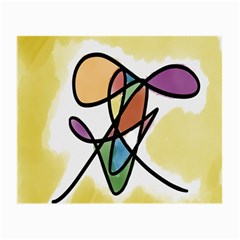 Art Abstract Exhibition Colours Small Glasses Cloth (2-Side)