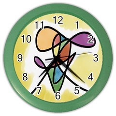 Art Abstract Exhibition Colours Color Wall Clocks