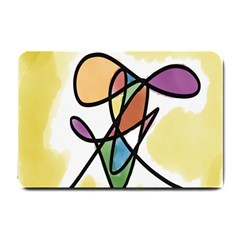 Art Abstract Exhibition Colours Small Doormat