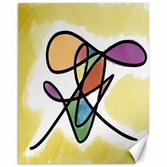 Art Abstract Exhibition Colours Canvas 11  X 14