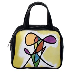 Art Abstract Exhibition Colours Classic Handbags (One Side)