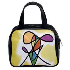 Art Abstract Exhibition Colours Classic Handbags (2 Sides)