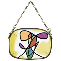 Art Abstract Exhibition Colours Chain Purses (One Side)