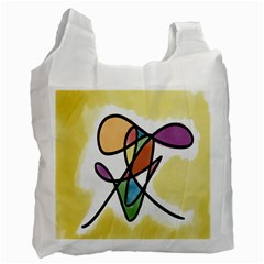 Art Abstract Exhibition Colours Recycle Bag (one Side)