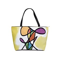 Art Abstract Exhibition Colours Shoulder Handbags