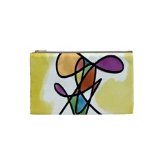 Art Abstract Exhibition Colours Cosmetic Bag (Small)