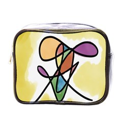 Art Abstract Exhibition Colours Mini Toiletries Bags