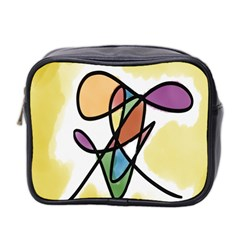 Art Abstract Exhibition Colours Mini Toiletries Bag 2 Side