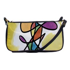 Art Abstract Exhibition Colours Shoulder Clutch Bags
