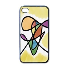 Art Abstract Exhibition Colours Apple Iphone 4 Case (black)