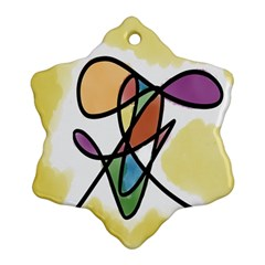 Art Abstract Exhibition Colours Ornament (Snowflake)