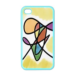 Art Abstract Exhibition Colours Apple Iphone 4 Case (color)