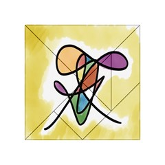 Art Abstract Exhibition Colours Acrylic Tangram Puzzle (4  x 4 )