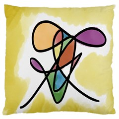 Art Abstract Exhibition Colours Large Cushion Case (Two Sides)