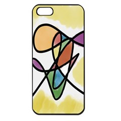 Art Abstract Exhibition Colours Apple iPhone 5 Seamless Case (Black)