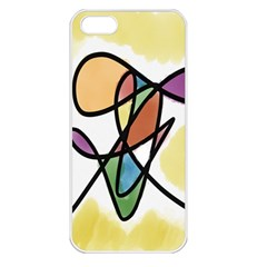 Art Abstract Exhibition Colours Apple iPhone 5 Seamless Case (White)