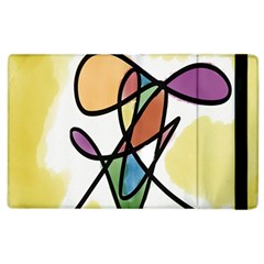 Art Abstract Exhibition Colours Apple iPad 3/4 Flip Case