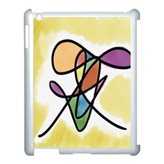Art Abstract Exhibition Colours Apple iPad 3/4 Case (White)