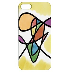 Art Abstract Exhibition Colours Apple iPhone 5 Hardshell Case with Stand