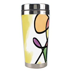 Art Abstract Exhibition Colours Stainless Steel Travel Tumblers