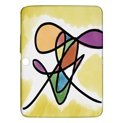 Art Abstract Exhibition Colours Samsung Galaxy Tab 3 (10.1 ) P5200 Hardshell Case
