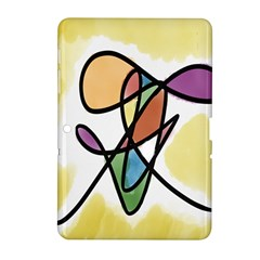 Art Abstract Exhibition Colours Samsung Galaxy Tab 2 (10.1 ) P5100 Hardshell Case