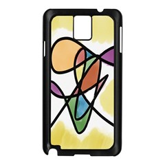 Art Abstract Exhibition Colours Samsung Galaxy Note 3 N9005 Case (Black)