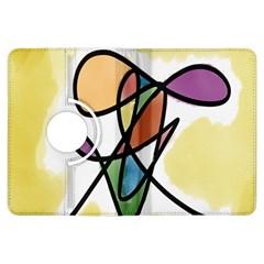 Art Abstract Exhibition Colours Kindle Fire HDX Flip 360 Case
